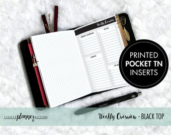 Undated Weekly Overview Travelers Notebook | Weekly Planner Insert | No2/Pocket Size TN Inserts