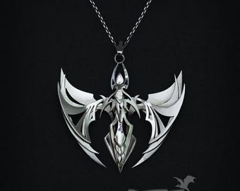 Dragon Butterfly Pendant | Jewelry necklace | Sterling Silver Dragon