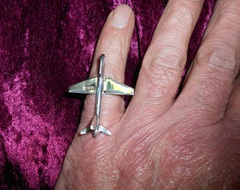 Solid Silver Hallmarked Jumbo Ring, Size R now. FREE sizing when sold.