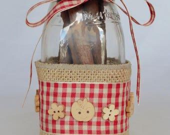 Shabby, Apple and Cinnamon Themed Country Bottle Decor