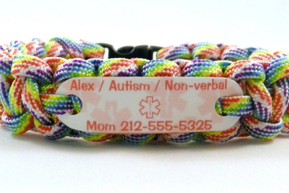 il autistic listing awareness medical autism bracelet allergy id kids