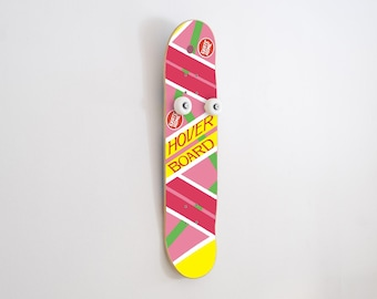 Special gift for Skateboard fan and Back to the Future - Vertical Skateboard Coat Rack Hoverboard
