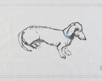 Smooth Haired Dachshund Tea Towel