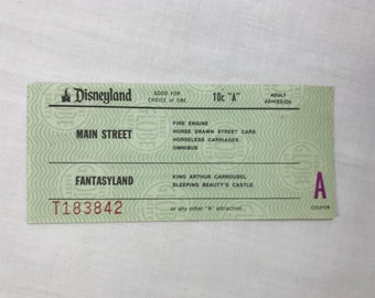 Disneyland A Ticket Admission from an Adult Ticket Book from 1979 795 E Coupon RARE!