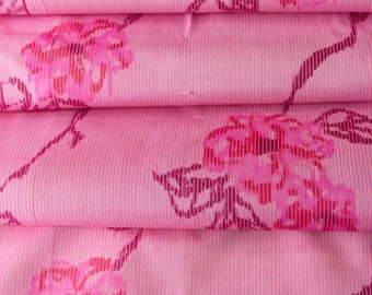 Pre-WW2 Meisen in Pink  // Japanese Kimono Fabric // Last Piece!