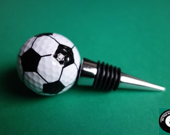 Football/Soccer Golf Ball Wine Bottle Stopper