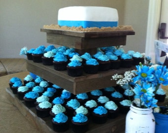 The Rustic Cake Stand and Cupcake Stand-  Weddings - Parties - Craft Fairs – Boutiques