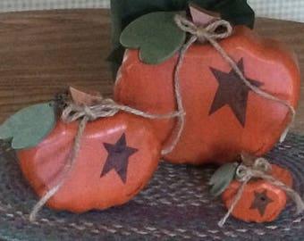 Wooden Pumpkins, Fall Decoration, Pumpkin Decoration, Thanksgiving Decoration, Hand Painted Wooden Pumpkins, Table Decoration, Shelf Sitters