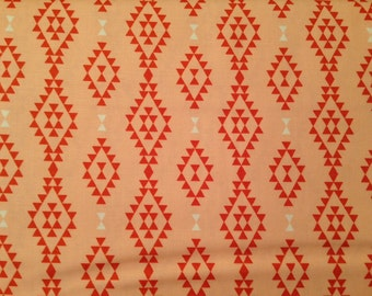 Moda fabric by the yard - southwestern fabric - southwest fabric - peach and white fabric - #16070