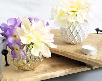 Mercury Glass Vases - Rose Gold Vases, Silver Vases, Gold Vases, Wedding Vases, Wedding Centerpieces, Rose Gold Decor, Geometric Wedding