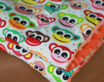 Monkey Weighted Therapy Blanket- all sizes and weight available