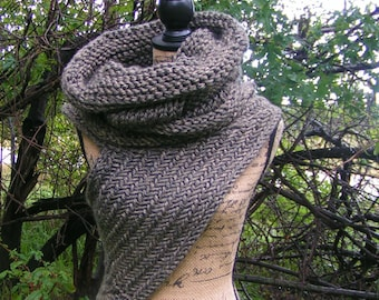 HUNTRESS HOODIE COWL Inspired Vest Handknit Fire Soft Archers Armor Huntress Cross Body Hunting Neckwear