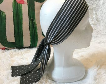 Reversible Stripe Polka Dot Headband