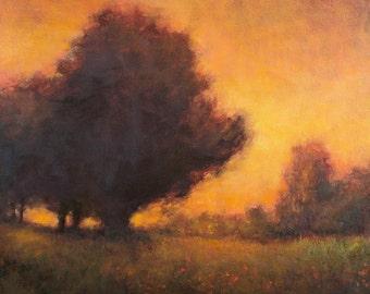Landscape painting impressionist landscape tonal modern art original painting by Don Bishop