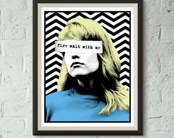 TWIN PEAKS Fire Walk With Me Laura Palmer 11x14 Screen Print