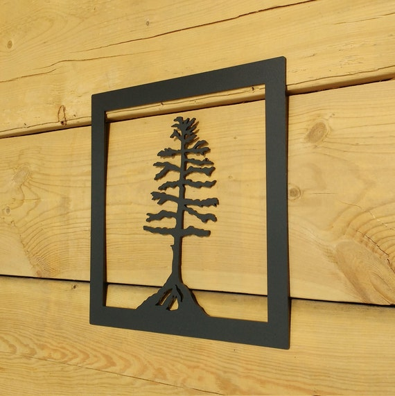 Metal Tree Art Wall Art Decoration Rustic Silouhette Tree