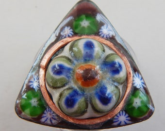 Large Enameled Shank Button 2018 B-49