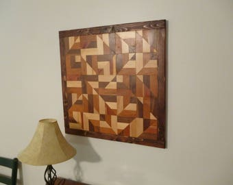 Wood Wall Art geometric design