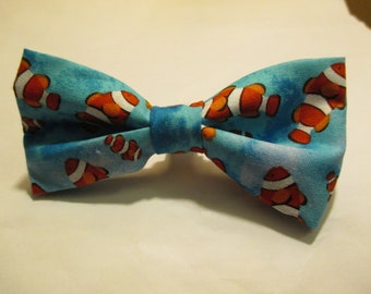 Nigel's *New* Fishes in the Blue Water Bow Tie!  Fishes are Red with white stripes and orange fins.  Swish Swish!