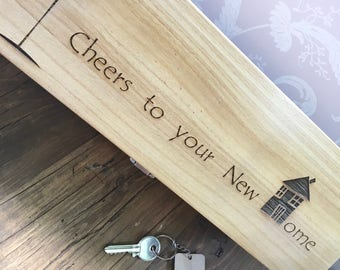 New Home Wine Box, New Home Gift Box, Housewarming Gift, Welcome to New Home, Good Luck New Home, Moving Home Gift, Relocation Gift