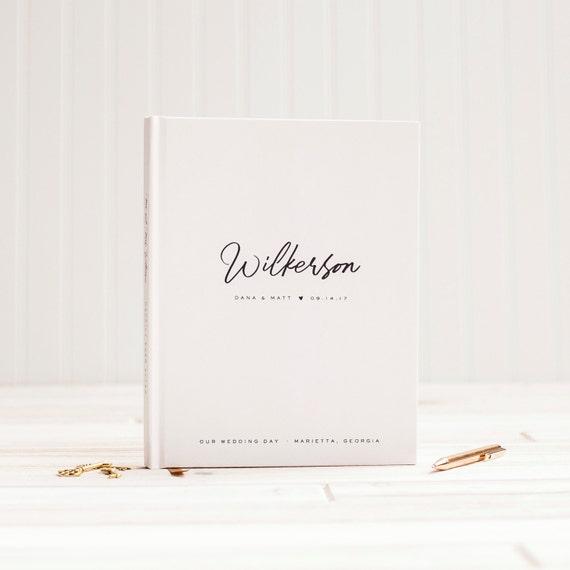 Wedding Guest Book Wedding Guestbook Custom Guest Book custom wedding gift wedding photo book wedding planner book wedding sign in book