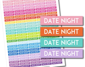 Date night stickers, Date night planner stickers, Date night printable stickers, Date night weekly stickers, Date monthly stickers, STI-692