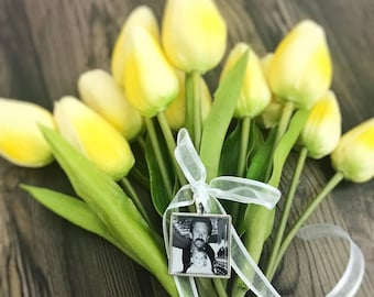 Wedding bouquet photo charm, Memory Locket, Memory Charm, memorial charm, bouquet memorial charm, wedding photo locket, Bouquet charm