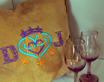 Scottish Embroidery Luckenbooth Pillow - Customized