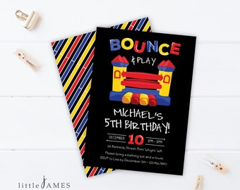 Bounce House Birthday Invitation / Birthday Invitation / Jumping Castle /