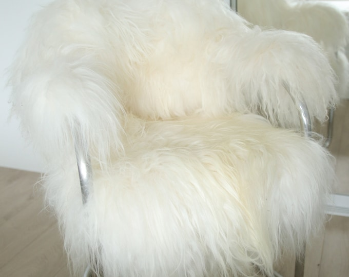 Exclusive Vintage Mid Century ICELANDIC Sheepskin Chair chrome, metal