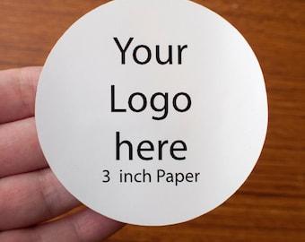 3 inch round sticker printing - white glossy paper
