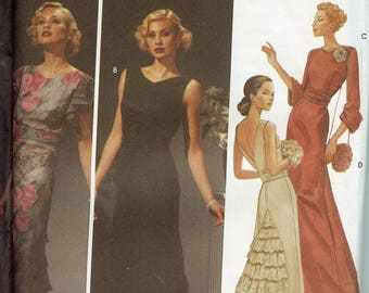 Simplicity 5876 Evening Dress Ruffle Gown Sewing Pattern Size 6 to 12 Uncut