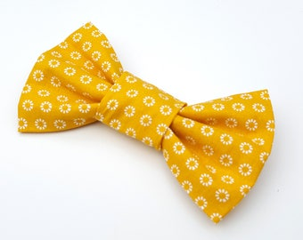Dog Bow Tie - Mustard yellow Metro