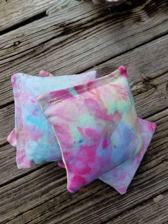 Tie Dye Corn Hole Bags Tie Dye Bean Bags Tie Dye Baggo Tie Dye Bag Toss