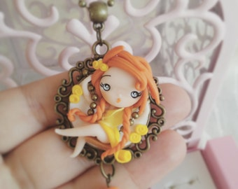 Yellow dolly on swing