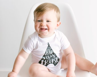Love My Tribe Infant Bodysuit • Unique Teepee Hand Lettered Typographic Outfit Design • Quirky Illustrated Baby Clothes • FREE SHIPPING