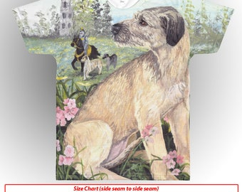 Irish Wolfhound T-Shirt All Over Hound Irish Dog Shirt Puppy Dreamer Apparel