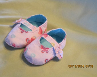 Girls Fabric Single Strap Mary Jane Style Baby Bootie: Item 0010