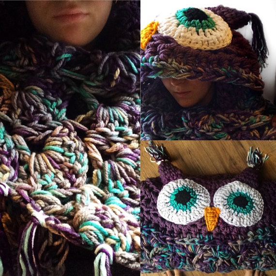 Items Similar To Mjs Off The Hook Owl Blanket Hooded Owl