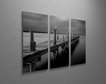 Time by Moises Levy Gallery Wrapped Canvas Triptych Print