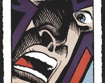 X-Men Magneto Pop Art Lichtenstein hand-pulled silkscreen print