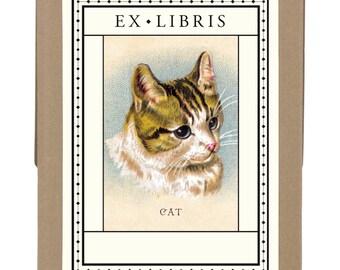 SALE Vintage Cat Bookplates ex libris