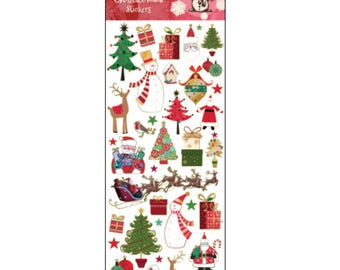 Xmas Modern Traditional Sticker, Planner, Scrapbooking, Journal, Diary Stickers, Christmas Stickers