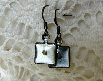 Mustard Seed Earrings... Gunmetal Mustard Seed Earrings - Mustard Seed Dangly Earrings - Mustard Seed Jewelry - Mustard Seed Faith