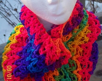 RAINBOW NECK WARMER!  Perfect for St. Patrick's Day or Any Day! ~ Free Shipping!