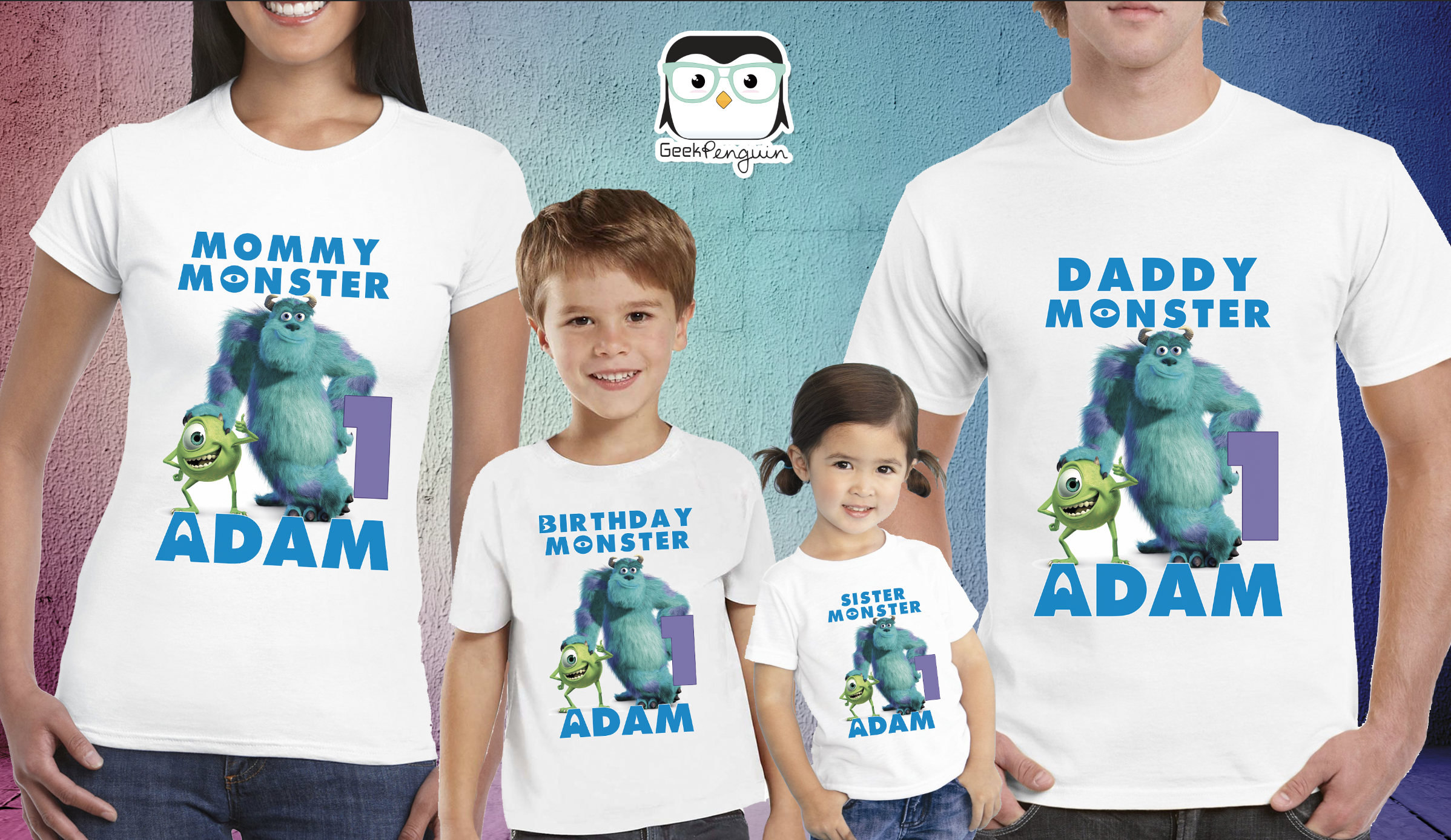 Monsters INC Birthday Shirt Mike and Sully shirt Monster INC