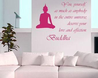Wall Decal Quote You, yourself, as much as anybody in the entire universe Buddha Meditation Wisdom Yoga Vinyl Sticker Home Décor Murals M77
