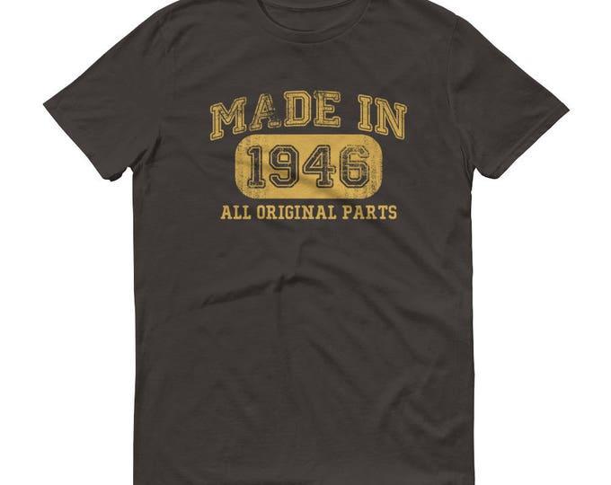 1946 Birthday Gift, Vintage Born in 1946 t-shirt for men, 72nd Birthday shirt for him, Made in 1946 T-shirt, 72 Year Old Birthday Shirt