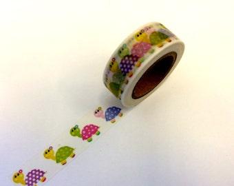 Turtle Washi Tape Scrapbooking Decorate Sticker - Baby Shower - 1st Birthday - Girl Party - Spring