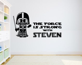 Darth Vader Wall Decal Star Wars Quote  Kids Room Decor Star Wars Sticker For Home Interior Nursery Decal